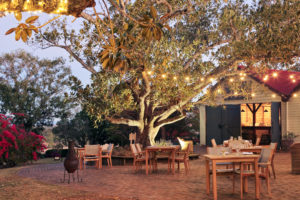 Spicers Retreat at night with fairy lights